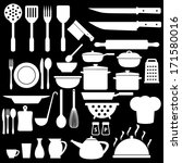 cooking icons set | Shutterstock .eps vector #171580016