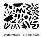 black dry brushstrokes hand... | Shutterstock .eps vector #1715816836