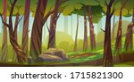 cartoon forest background ...