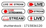 set of live streaming icons ... | Shutterstock .eps vector #1715836120
