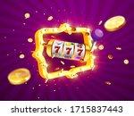 golden slot machine wins the... | Shutterstock .eps vector #1715837443