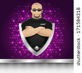 background man security guard... | Shutterstock .eps vector #171584318