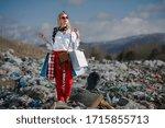 Modern Woman On Landfill ...
