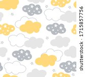 vector clouds and stars... | Shutterstock .eps vector #1715857756