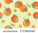 exotic orange fruit vector... | Shutterstock .eps vector #1715860960