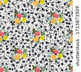 vintage feedsack pattern in...   Shutterstock .eps vector #1715873509
