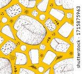 Cheese Seamless Pattern. Hand...