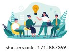business team working together  ... | Shutterstock .eps vector #1715887369