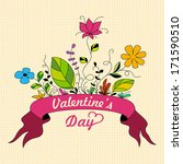 card for valentine's day | Shutterstock .eps vector #171590510