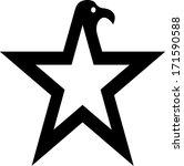 eagle star symbol illustration