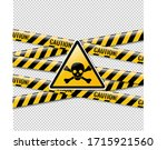 danger sign and isolated... | Shutterstock . vector #1715921560