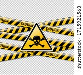 danger sign and isolated... | Shutterstock .eps vector #1715921563