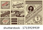retro cards set templates.... | Shutterstock .eps vector #1715929939