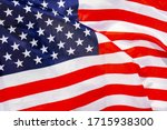 Fabric texture flag of usa....