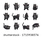 Vector Cats. Cute Cat Set...