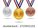 set of gold  silver  bronze... | Shutterstock .eps vector #1715941153
