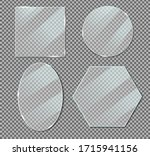 vector acrylic glass plate... | Shutterstock .eps vector #1715941156