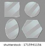 vector acrylic glass plate... | Shutterstock .eps vector #1715941156