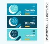 abstract banner template design.... | Shutterstock .eps vector #1715949790