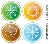 set of four seasons icons on... | Shutterstock .eps vector #171596048