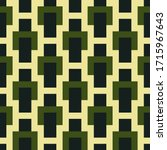 seamless pattern. squares ... | Shutterstock .eps vector #1715967643