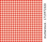 Red  White Checkered Table...