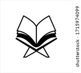 holy book icon isolated on... | Shutterstock .eps vector #1715974099