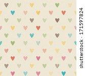 valentine colorful retro... | Shutterstock .eps vector #171597824