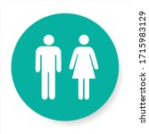 vector icon with man and woman. ... | Shutterstock .eps vector #1715983129