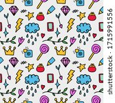 vector pattern from colored... | Shutterstock .eps vector #1715991556