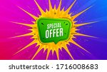 special offer badge. flare... | Shutterstock .eps vector #1716008683