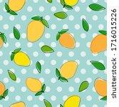 mango cartoon illustration with ... | Shutterstock .eps vector #1716015226