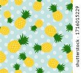pineapple flat illustration... | Shutterstock .eps vector #1716015229