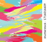 abstract colourful paint brush... | Shutterstock .eps vector #1716016609