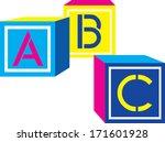 alphabet blocks | Shutterstock .eps vector #171601928
