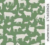 livestock seamless pattern.... | Shutterstock .eps vector #1716020626
