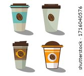 design flat coffee beans and...   Shutterstock .eps vector #1716040576