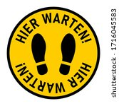 "hier warten  ""wait here"" in... 
