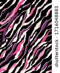 seamless zebra pattern  animal... | Shutterstock .eps vector #1716048883