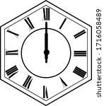 hexagon clock vector design 12...