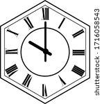hexagon clock vector design 10...