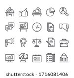 politics elections line... | Shutterstock .eps vector #1716081406