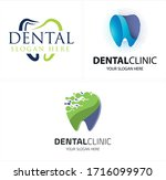 green blue symbol icon tooth...   Shutterstock .eps vector #1716099970