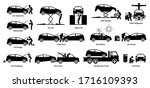 mechanic check and fix car at... | Shutterstock .eps vector #1716109393