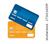 flat design credit cards set... | Shutterstock .eps vector #1716116539