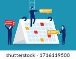 planning business events. flat... | Shutterstock .eps vector #1716119500