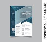 vector corporate modern dark... | Shutterstock .eps vector #1716132430