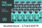 bottles with antidote for the... | Shutterstock .eps vector #1716133579