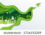 paper art and digital craft...   Shutterstock .eps vector #1716152209