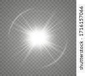 white glowing light burst... | Shutterstock .eps vector #1716157066